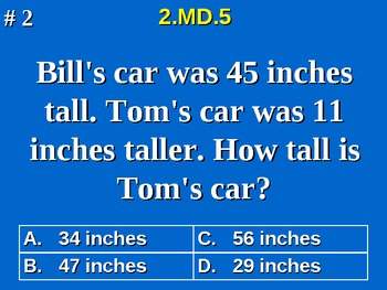 2nd Grade Common Core Math Addition Subtraction to Solve W