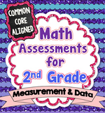 Common Core Math Assessments for 2nd Grade - Measurement a