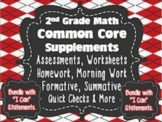 2nd Grade Common Core: Math Bundle{Assessments, Writing Re