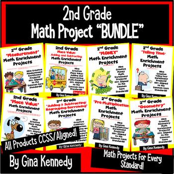 2nd Grade Math Enrichment Projects!  BUNDLE