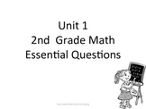 2nd Grade Common Core Math Essential Questions for Posting