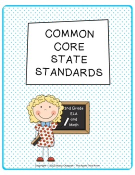 Common Core Math and ELA Standards Reference Sheets - 2nd Grade