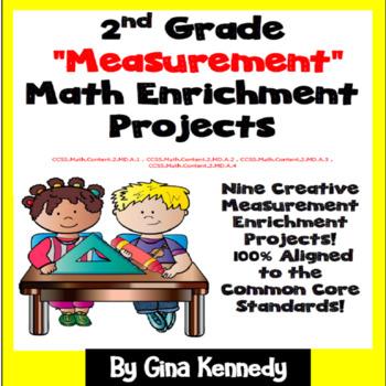 2nd Grade Measurement Math Enrichment Projects
