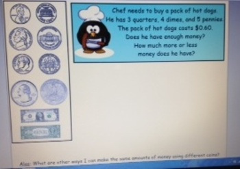 2nd Grade Common Core Money Identify and Word Problems SMA