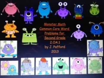 2nd Grade Common Core Word Problems 2.OA.1 with Monster Ma