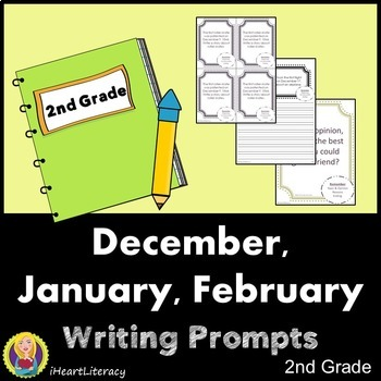 Writing Prompts 2nd Grade Common Core Bundle – December, J