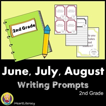 Writing Prompts 2nd Grade Common Core Bundle – June, July, August