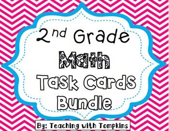 2nd Grade Complete Math Task Cards Bundle
