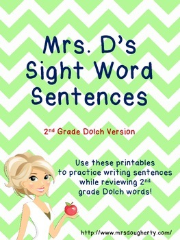 Sight Word Sentences - 2nd Grade Dolch Version