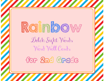 2nd Grade Dolch Sight Words Rainbow Cards