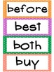 2nd Grade Dolche Word Wall Words- Large