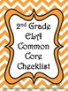 2nd Grade ELA Common Core Checklist - Lesson Planning Form