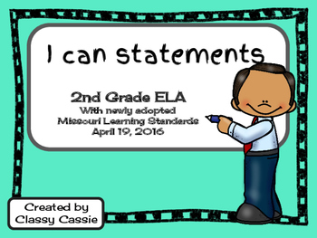 2nd Grade ELA Missouri Learning Standards I can Statement