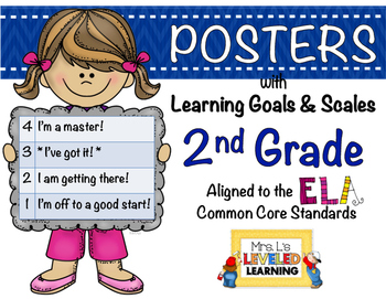 2nd Grade ELA Posters with Marzano Scales - Aligned to Com
