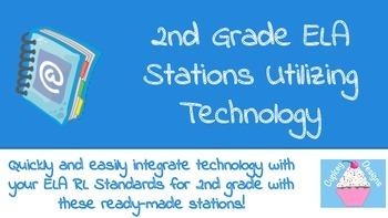 2nd Grade ELA Stations Utilizing Technology for RL CCSS