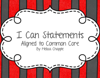 2nd Grade ELA and Mathematics I Can Statements (CCSS)