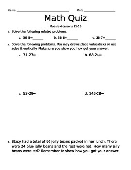 2nd Grade Engage NY Module 4 Quiz Topic C