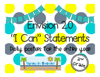 "2nd Grade - Envision 2.0 ""I Can"" Statements for the Entire Year"