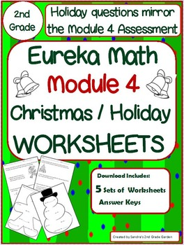 2nd Grade Eureka Math Module 4 Christmas / Holiday Workshe