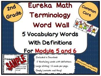 2nd Grade Eureka Math Module 5 and 6 New Terminology Word