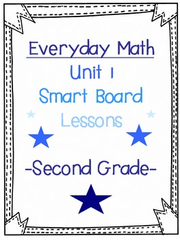 2nd Grade Everyday Math SmartBoard lesson (1.12, Exploration)
