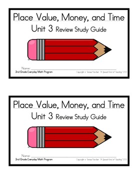2nd Grade Everyday Math: Unit 3 Review Study Guide- Place