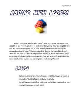 2nd Grade Everyday Math Unit 4 Enrichment Activity - Addit