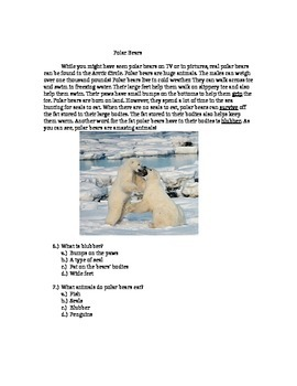 2nd Grade Fiction + Nonfiction Reading Comprehension Packe