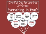 Everything in 2's - A Common Core Aligned Full Day for your Sub