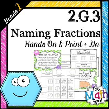 2nd Grade Geometry: Naming Equal Pieces & Fractions