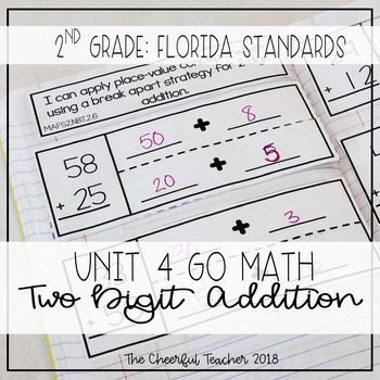 2nd Grade Go Math! Interactive Notebook: Chapter 4 ~ Flori