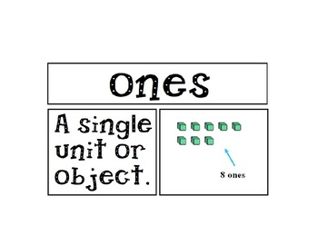 2nd Grade Go Math Voc. Cards Unit 1