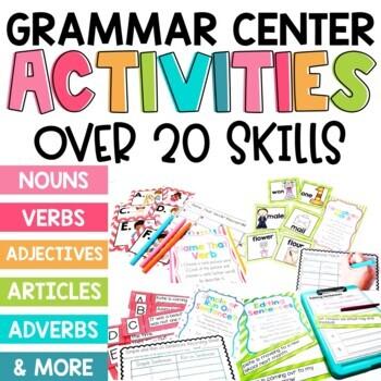 2nd Grade Grammar Centers: A GROWING Bundle