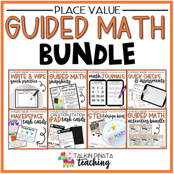 Guided Math Bundle {2nd Grade Place Value}