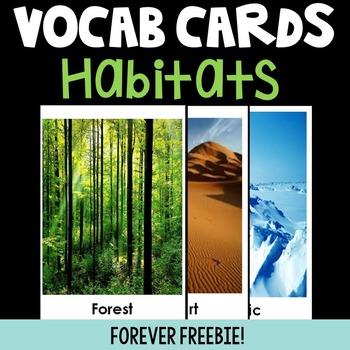 2nd Grade Habitat Word Wall Cards