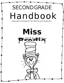 2nd Grade Handbook Completely Editable