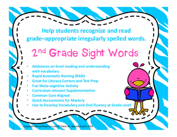 2nd Grade High Frequency Sight Word Cards with Assessment Sheets