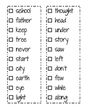2nd Grade High Frequency Word Book