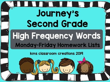 2nd Grade High Frequency Word Lists and More! (Journeys Sequence)