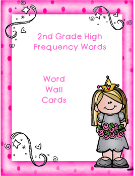 2nd Grade High Frequency Word Wall Cards