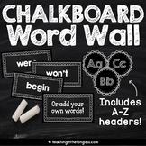 Word Wall EDITABLE Chalkboard Sight Words