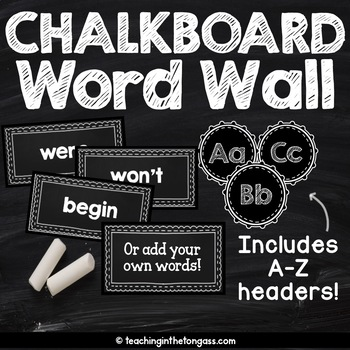 EDITABLE Chalkboard Sight Words