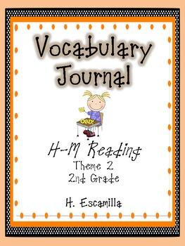 2nd Grade Houghton Mifflin Vocabulary Journal - Theme 2