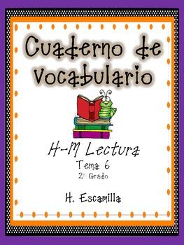 2nd Grade Houghton Mifflin Vocabulary Journal - Theme 6 in