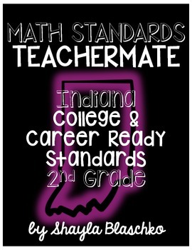 2nd Grade Indiana College & Career Ready Standards MATH TE