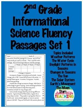 Fluency Passages 2nd Grade Informational Science Set 1- We