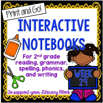 2nd Grade Interactive Notebook Week 29: Long A and I, Char