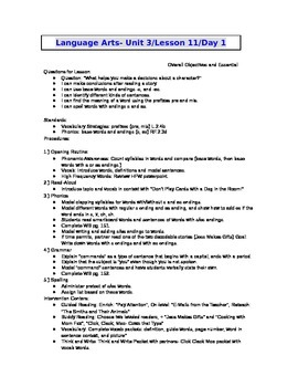2nd Grade Journeys (2011 ed.) Daily Lesson Plans- Unit 3