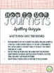 2nd Grade, Journeys 2014 Unit 3 Spelling Quizzes and Sente