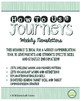 2nd Grade Journeys 2014, Unit 6 Weekly Newsletters